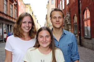 Ebba Wistedt, Sofia Svensson och André Nilsson